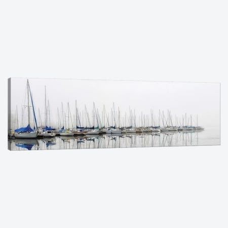 Sailing Boats Panel 3-Piece Canvas #AAS33} by Andy Amos Canvas Art