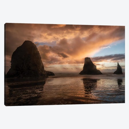 Falling Sunsets Canvas Print #AAS36} by Andy Amos Canvas Print
