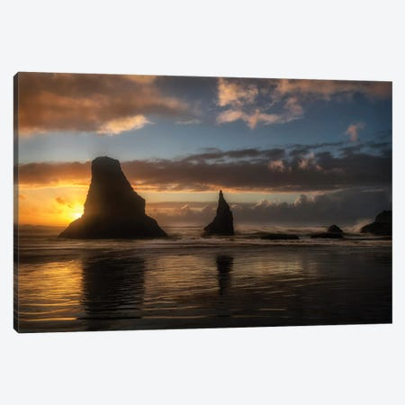Island Sunsets Canvas Print #AAS37} by Andy Amos Canvas Art Print