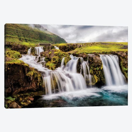Beneath the Falls Canvas Print #AAS3} by Andy Amos Canvas Print