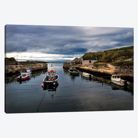 Fishing Harbor Canvas Print #AAS57} by Andy Amos Canvas Print