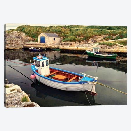 Harbor Boat Dock Canvas Print #AAS60} by Andy Amos Art Print