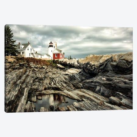 Harbor Lighthouse I Canvas Print #AAS63} by Andy Amos Canvas Print