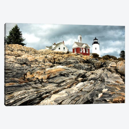 Harbor Lighthouse II Canvas Print #AAS64} by Andy Amos Canvas Artwork