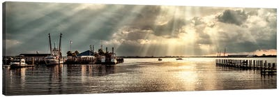 Dock Sunrise Canvas Art Print