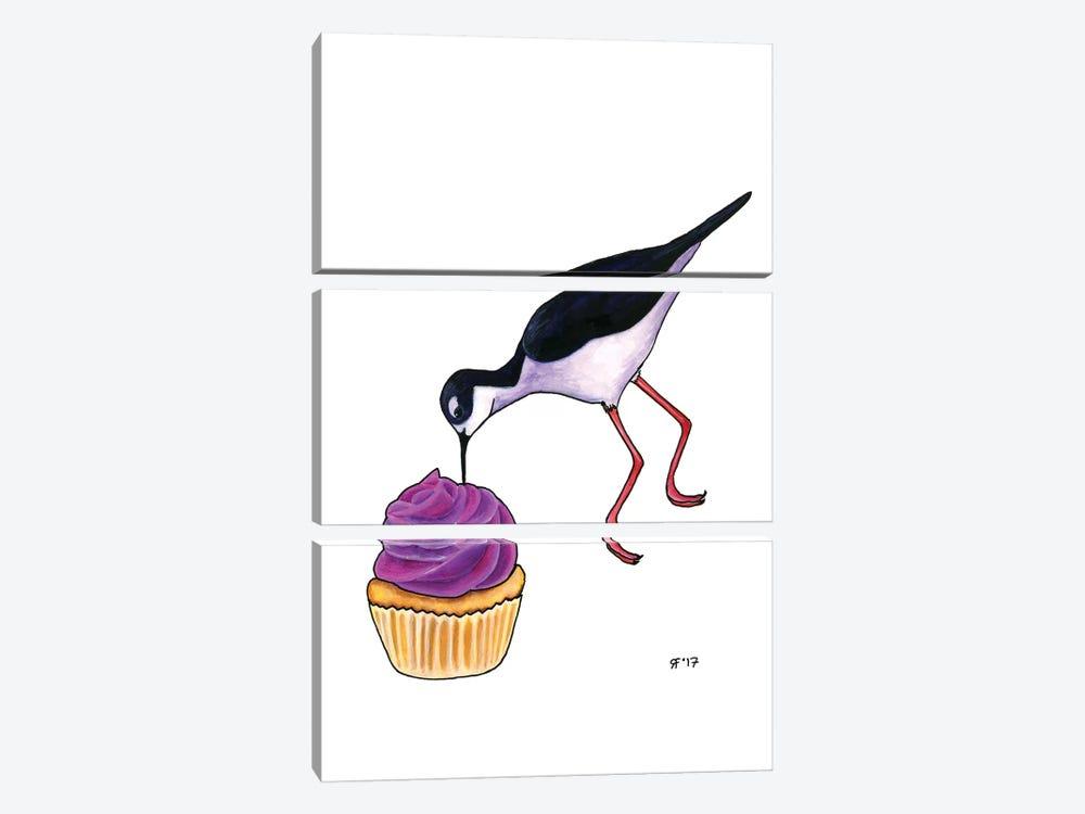 Cupcakes Tilt by Alasse Art 3-piece Art Print