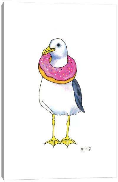 Doughnut Gull Canvas Art Print