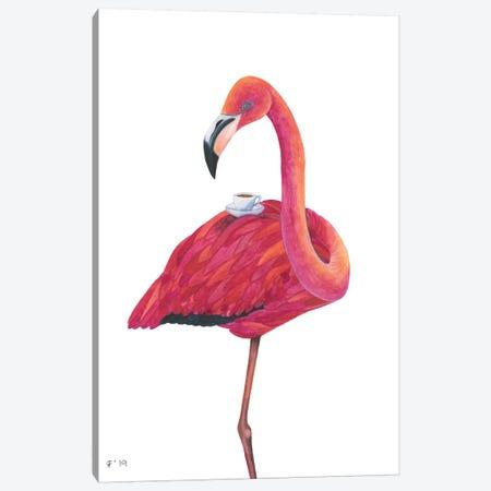 Flamingo Tea Canvas Print #AAT16} by Alasse Art Canvas Art