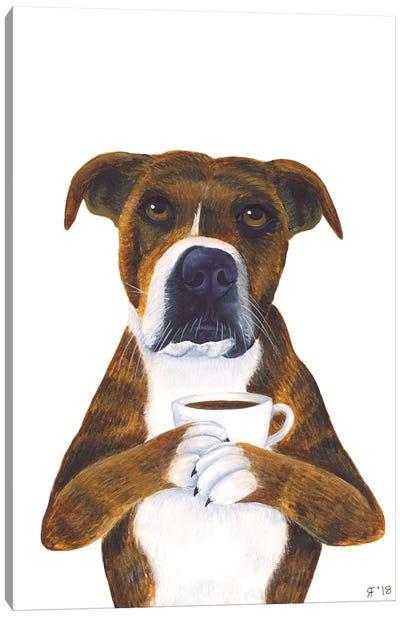 Coffee Cup Dog Canvas Art Print