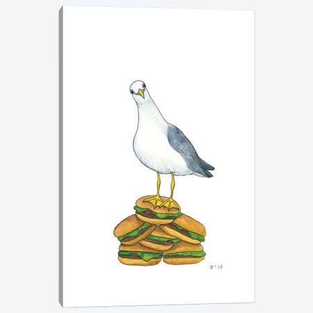 Hamburger Gull Canvas Print #AAT20} by Alasse Art Canvas Wall Art