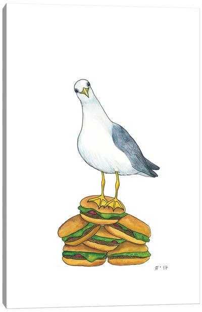 Hamburger Gull Canvas Art Print