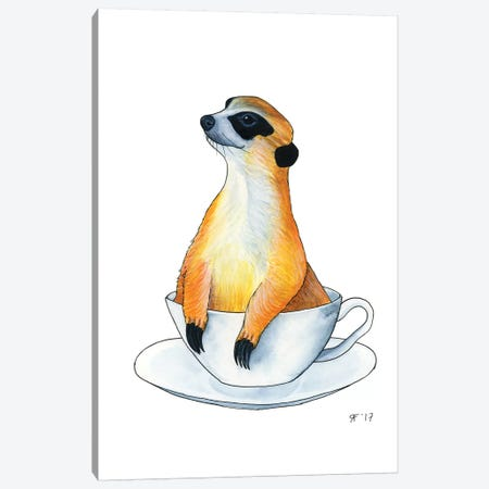 Meerkat Canvas Print #AAT27} by Alasse Art Art Print