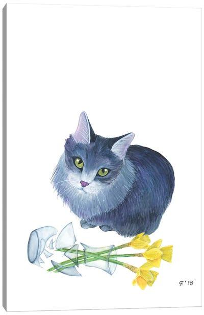 Alice And Vase Canvas Art Print