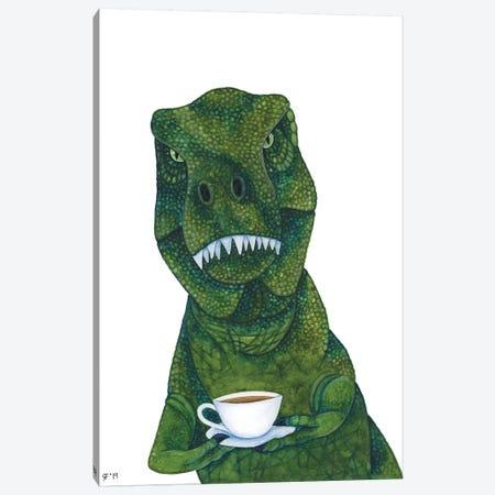 New Tea Rex Canvas Print #AAT31} by Alasse Art Canvas Print