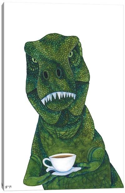 New Tea Rex Canvas Art Print