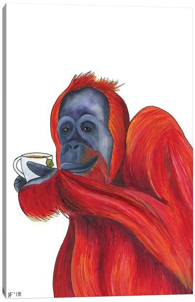 Orangutan Tea Canvas Art Print