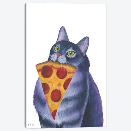 Pizza Slice Canvas Print #AAT36} by Alasse Art Canvas Artwork