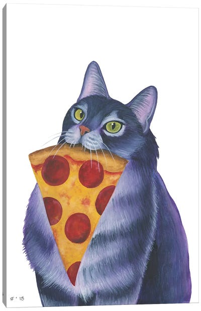 Pizza Slice Canvas Art Print