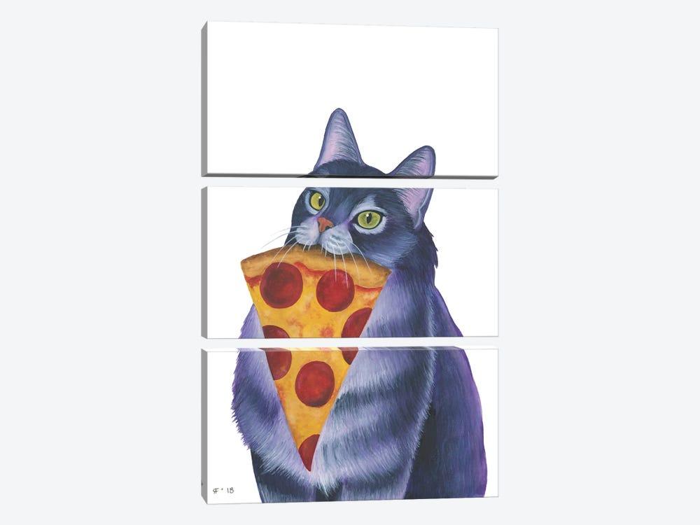 Pizza Slice by Alasse Art 3-piece Canvas Print
