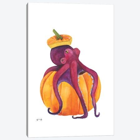Pumpkin Octopus Canvas Print #AAT38} by Alasse Art Art Print