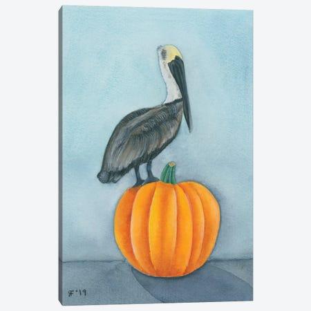 Pumpkin Pelican Canvas Print #AAT39} by Alasse Art Art Print