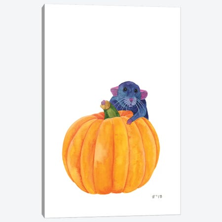 Rat Pumpkin Canvas Print #AAT43} by Alasse Art Canvas Artwork