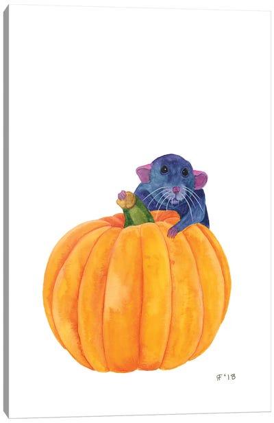 Rat Pumpkin Canvas Art Print