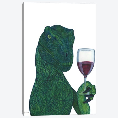 Red Wine Raptor Canvas Print #AAT44} by Alasse Art Canvas Art Print