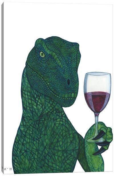 Red Wine Raptor Canvas Art Print