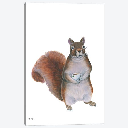 Squirrel Canvas Print #AAT48} by Alasse Art Canvas Artwork