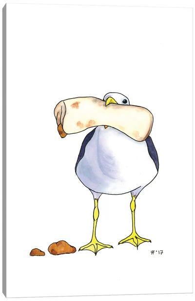 Bean Burrito Gull Canvas Art Print