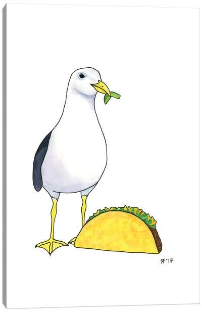 Taco Gull Canvas Art Print