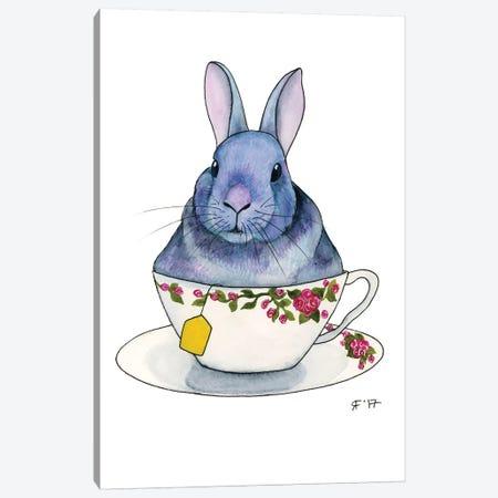 Tea Bunny 3-Piece Canvas #AAT51} by Alasse Art Art Print