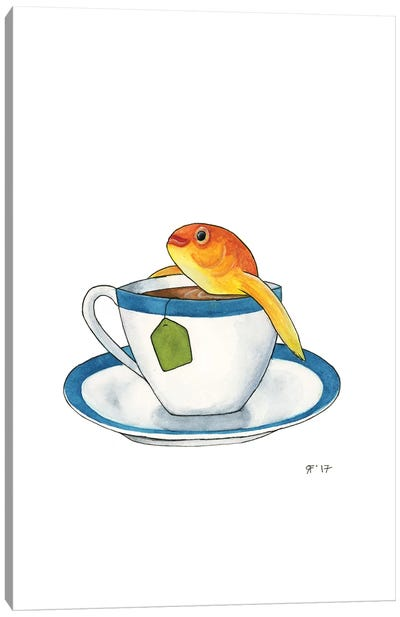 Tea Goldfish Canvas Art Print