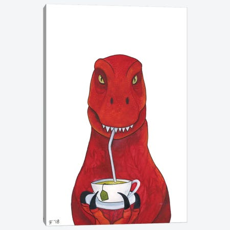 Tea Rex Canvas Print #AAT55} by Alasse Art Canvas Art