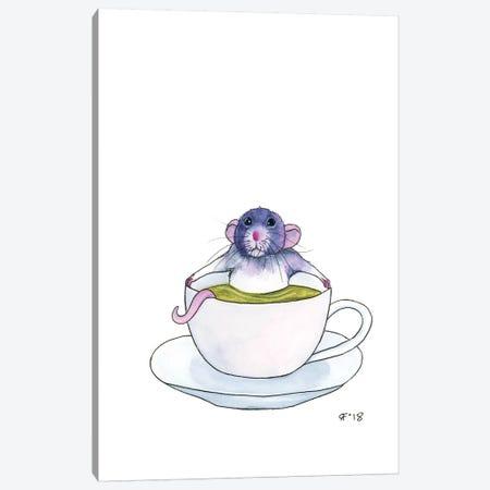 Tea Time Rattie Canvas Print #AAT56} by Alasse Art Canvas Artwork