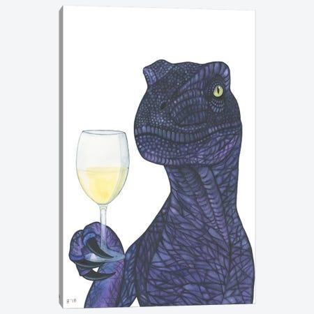 Wine Dino Canvas Print #AAT66} by Alasse Art Canvas Art Print