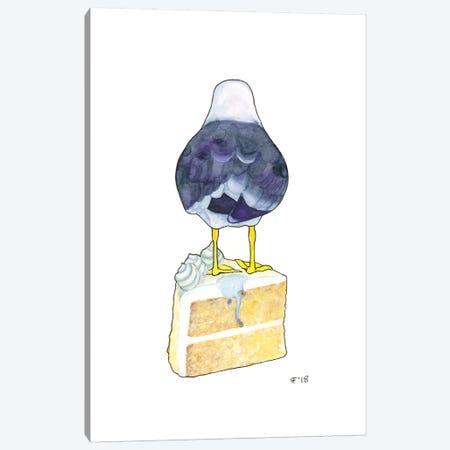 Birthday Cake Seagull Canvas Print #AAT6} by Alasse Art Canvas Print