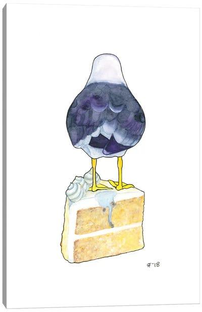 Birthday Cake Seagull Canvas Art Print