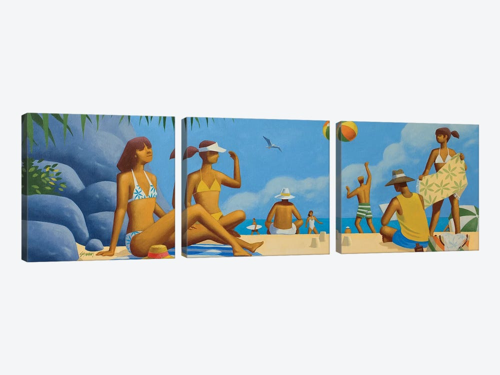 Beach Montage II by Anvil Artworks 3-piece Canvas Art Print