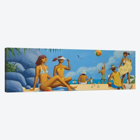 Beach Montage II Canvas Print #AAW10} by Anvil Artworks Canvas Art