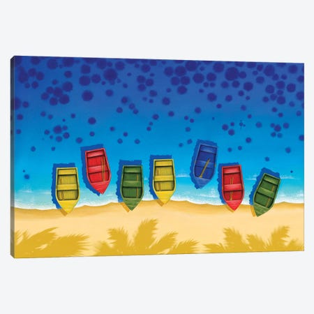 Boats Canvas Print #AAW12} by Anvil Artworks Canvas Wall Art
