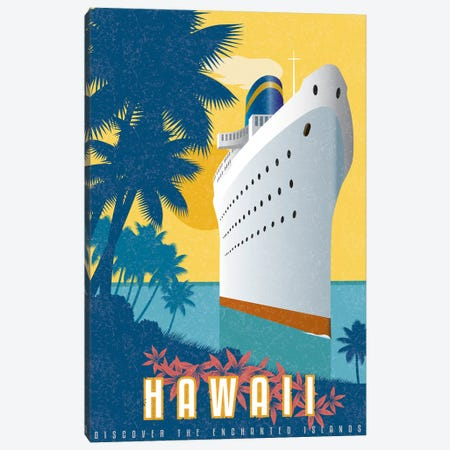 Cruising Hawaii Canvas Print #AAW17} by Anvil Artworks Canvas Art Print