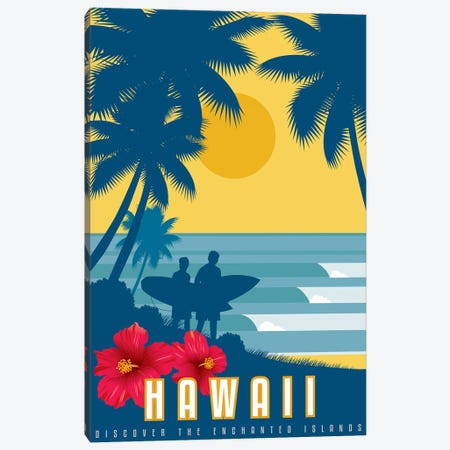 Discover Hawaii Canvas Print #AAW18} by Anvil Artworks Canvas Artwork