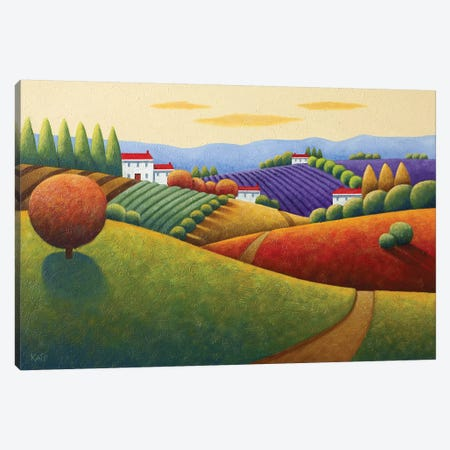 Fields Of Tuscany Canvas Print #AAW24} by Anvil Artworks Canvas Artwork