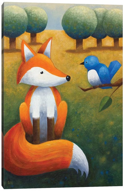 Frankie And The Bluebird Canvas Art Print