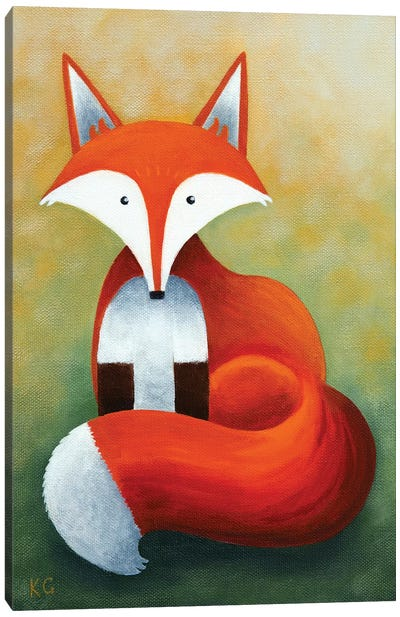 Frankie The Fox Canvas Art Print
