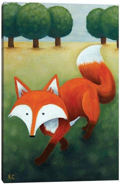 Frankie Walking Canvas Art Print