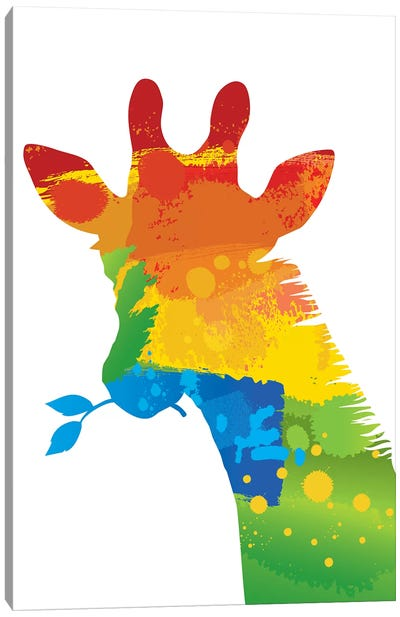 Giraffe Splash Canvas Art Print