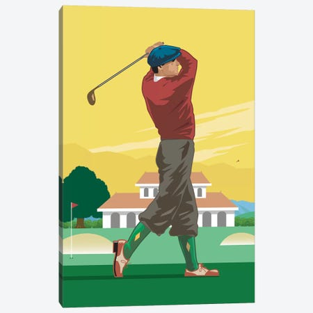 Golfer Canvas Print #AAW35} by Anvil Artworks Canvas Art Print